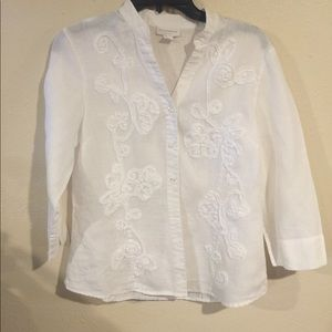 Charter Club embroidered top